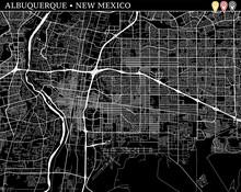 Simple Map Of Albuquerque, New Mexico