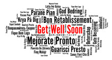 Get Well Soon Word Cloud In Di...
