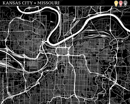 Simple Map Of Kansas City Missouri Buy This Stock Vector And