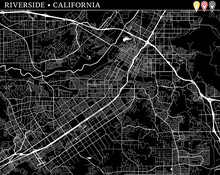 Simple Map Of Riverside, California