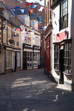 Quaint Englist Street In Whitby, North Yorkshire