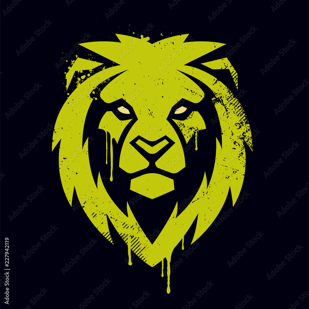 Fototapeta Lion Head Vector Graffiti Art