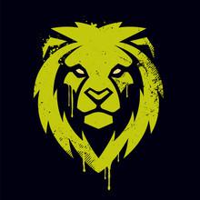 Lion Head Vector Graffiti Art