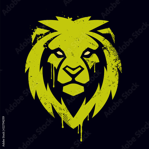 Fototapeta premium Lion Head Vector Graffiti Art
