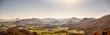 Bergsilhouette in den Alpen, Panorama