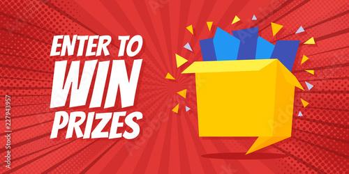 Foto Enter to win prizes gift box