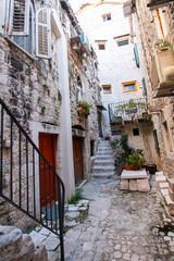 Fototapeta Streets of Trogir in Croatia ( ulice Trogiru w Chorwacji)