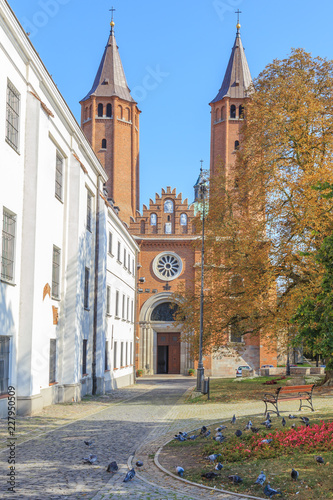 Valokuva  Plock Cathedral of  Blessed Virgin Mary, a Roman Catholic church in Poland,  Romanesque architecture