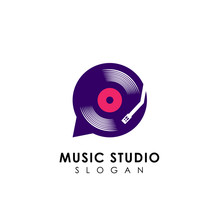 Music Chat Logo Design Templat...
