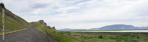 Foto op Canvas Olijf Landschaft auf der Fahrt ins isländische Hochland (Landmannalaugar / Þórsmörk) / Süd-Island
