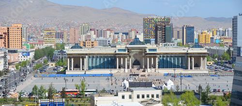 Ulaanbaatar - panorama of the capital city of Mongolia   #227961949