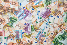 Background Of All Euro Bills F...