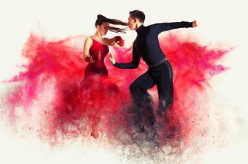Dancing ballroom. Color dus...