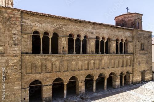 Foto op Aluminium Oude gebouw Old orthodox church saint Sophia in Ohrid