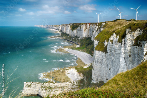Photo Alabaster cliffs. Normandy, France.