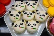 Macaron Cookies Shaped Like Cu...