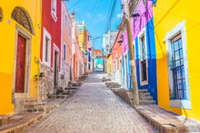 Colorful Alleys And Streets In...