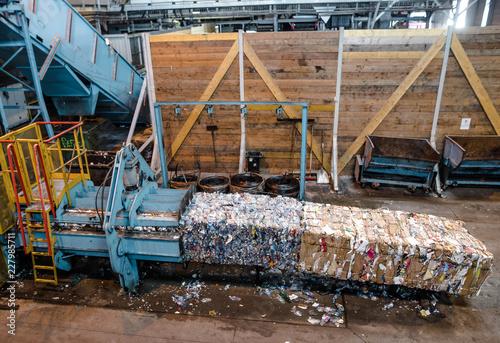 Fotografia, Obraz  usine de recyclage