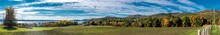 Panoramic View Of An Autumn Sc...