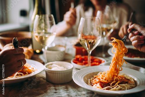 Fotografie, Obraz WIne dinner