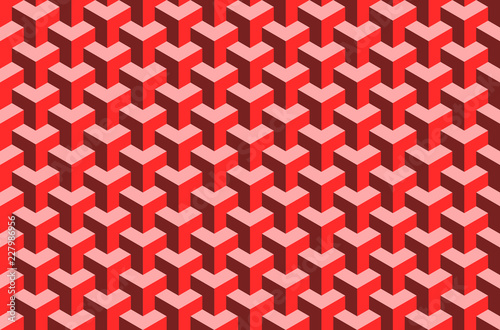 Fotografie, Obraz  Structured geometric pattern - red