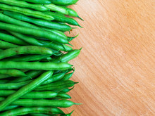 Freshly Picked Green Beans On ...