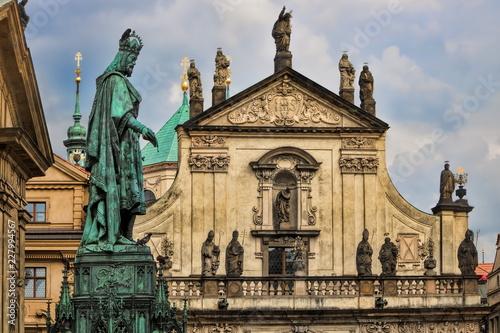 Spoed Foto op Canvas Centraal Europa Prag, Sankt-Nikolaus-Kirche