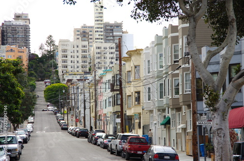 Fotografie, Obraz  Une rue dans San Francisco (USA)