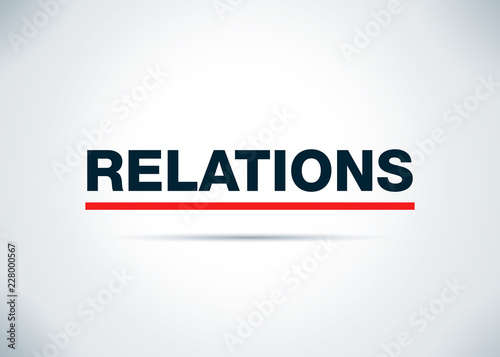 Foto  Relations Abstract Flat Background Design Illustration