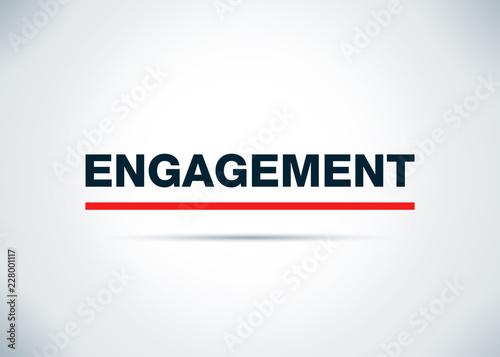Fotografiet  Engagement Abstract Flat Background Design Illustration
