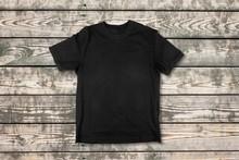 Black T-shirt Isolated On  Background