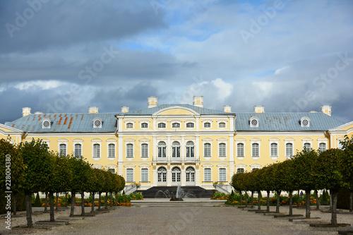 Fotografie, Obraz  Baroque castle with ornamental gardens
