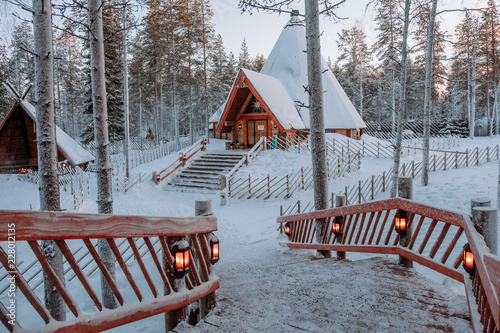 Santa Claus village in Lapland.