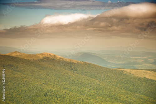 Photo Stands Melon Carpathian mountains in early autumn