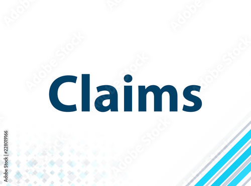 Claims Modern Flat Design Blue Abstract Background Canvas Print