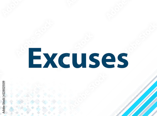 Photo Excuses Modern Flat Design Blue Abstract Background
