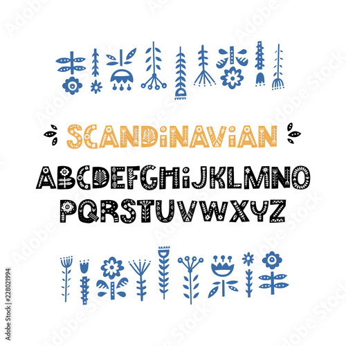 Photo  Scandinavian Font Vector