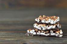 Pile Of Puffed Rice Chocolate