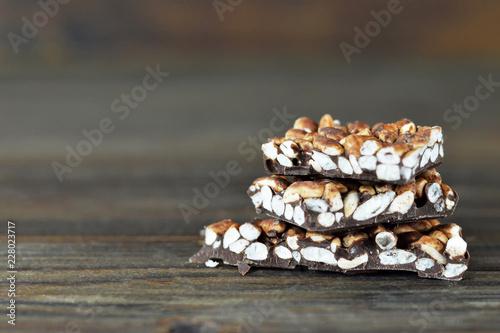 Pile of puffed rice chocolate Canvas-taulu