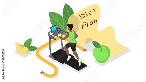 Tela  Diet plan. Nutriotion control and healthy food