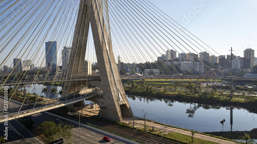 Stayed bridge at Sao Paulo, Brazil.
