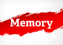 Memory Red Brush Abstract Back...