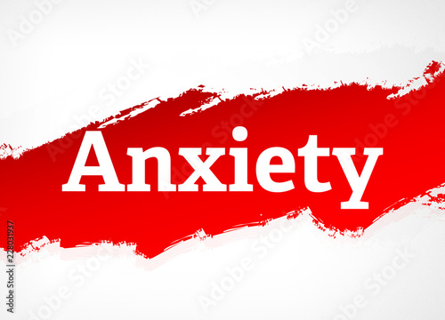 Anxiety Red Brush Abstract Background Illustration Canvas Print