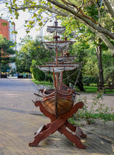 Model Of A Sailing Ship Made O...