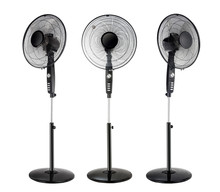 Black Electric Fans Isolated O...