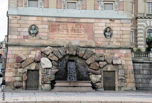 Photo  Stockholm Royal Palace Fountain, Sweden