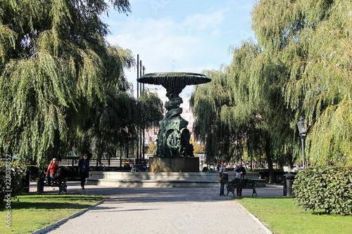 Photo  Stockholm King Garden Park Fountain