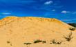 Sandwüste mit blauem Himmel