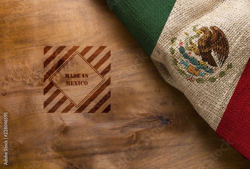 Staande foto Algerije Flag and symbol made in Mexico