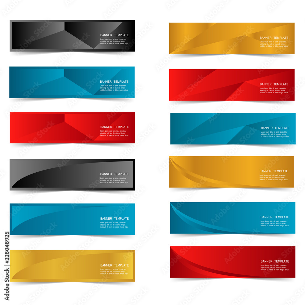 Fototapeta Abstract Web banner design header Templates vector